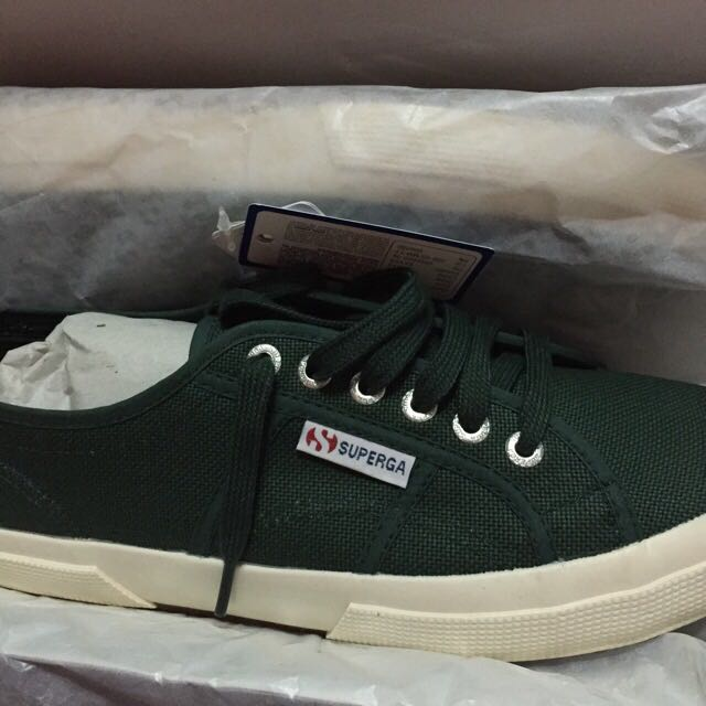 Superga Dark green Shoes, Men's Fashion