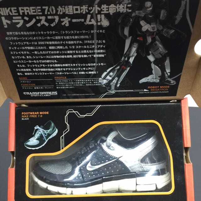 ca497dc7ad5c7 ... Transformers Takara Tomy Sports Label Convoy Optimus Prime And Megaton  feat Nike Free 7.0 Set