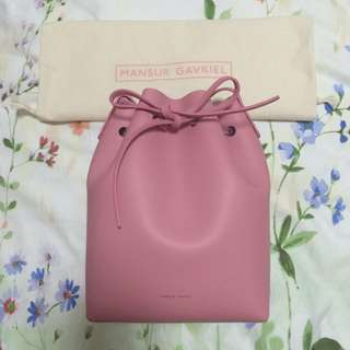 BN Mansur Gavriel Mini Bucket In Peony/Peony