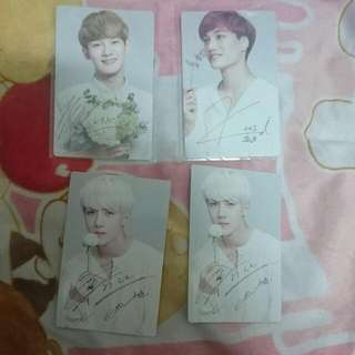 EXO B1A4 NR小卡 周邊