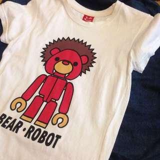 TIAOPI 小熊圖樣白T恤