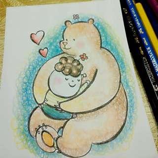 徵!想要學超簡單溫暖色鉛筆手繪的人!基礎課程單堂~