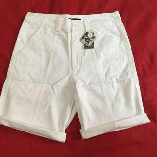 好搭實穿純白純棉短褲