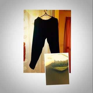 黑色伸縮 西裝褲
