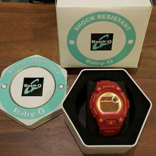 🚚 CASIO Baby-G紅色電子錶