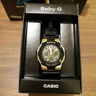 CASIO Baby-G黑金指針式電子錶
