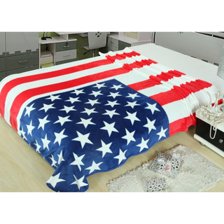 Selimut Bulu USA Flag