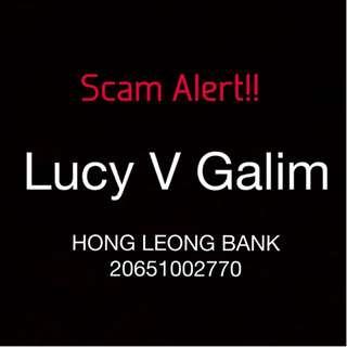 Scammer: LUCY V GALIM or @sarahbeautyfix