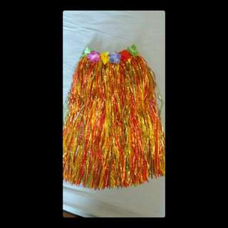 Hawaii Costume (Almost Brand New, Used 1x Only)  Includes: - Free Size Velcro-strapped Skirt - Head Band - Flower Garland Necklace - 2x Flower Wrist Bands  Slight reduction for serious Buyer  Meeting Point: City Hall / Jurong East MRT