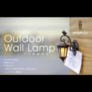 可超取/迷你古典壁燈磁鐵二用夾 (金/黑/銅/白/粉5色)