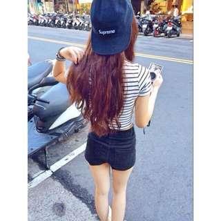 正品Supreme 五分割帽(黑)