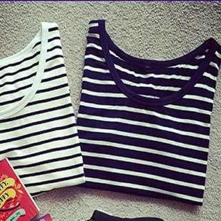 韓版短袖條紋T恤
