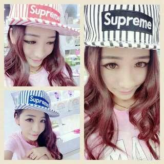 Supreme 帽子(條紋)