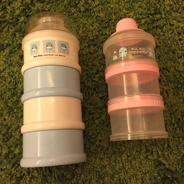 (二手)奶粉分裝罐2款入