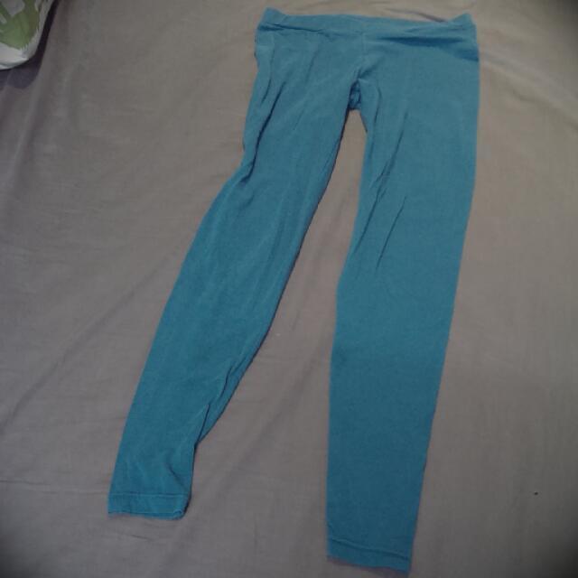 【出清】藍綠色棉內搭褲