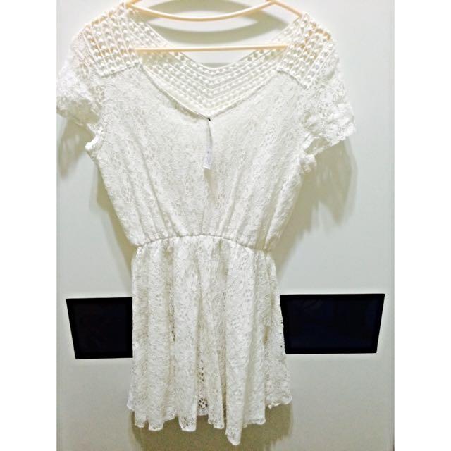 氣質修身白洋裝💥