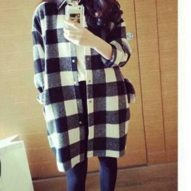 韓版寬鬆格子襯衫 外套
