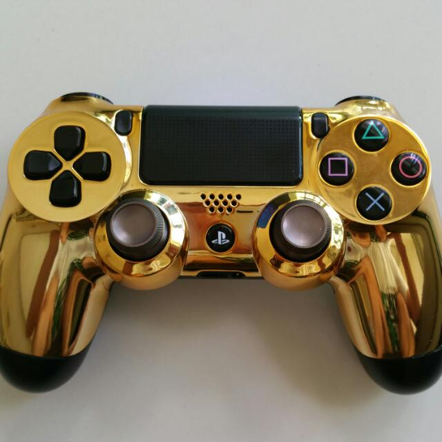 PS4 Controller Custom Chrome For Gamers, Toys & Games, Video