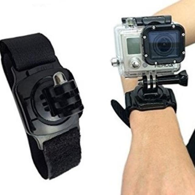 【GoPro 副廠配件】高質感可旋轉360度腕帶