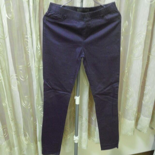 ((新年特賣免運)) 專櫃non.stop千鳥細格內搭褲-葡萄紫色-尺寸1號(s)