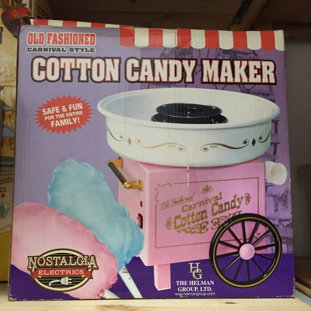 Nostalgia Old-Fashioned Cotton Candy Maker