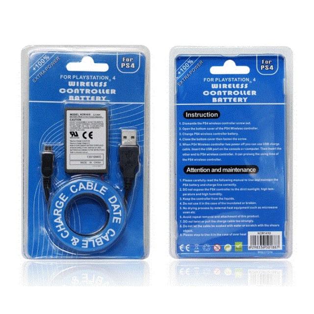 PS4 無線手柄電池 + USB充電線