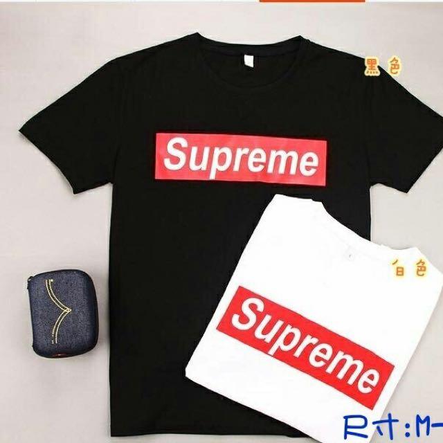 Supreme基本款情侶衣