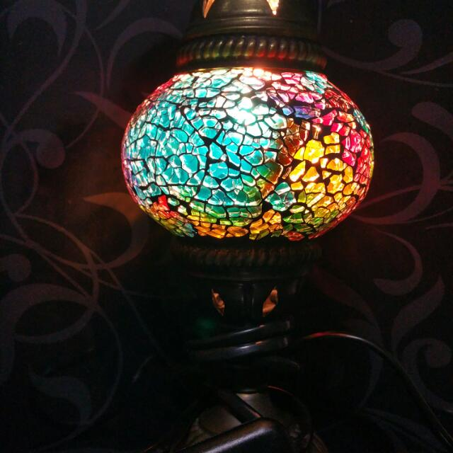 Turkish moroccan handmade mosaic glass table lamp hand craft desk photo photo photo mozeypictures Image collections