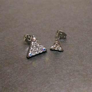 全新不對等三角耳環