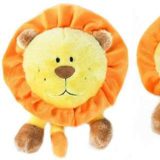 Brainey Squeaky Plush For Dog - Lion