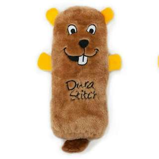 No Stuffing Squeakie Buddie For Dog - Beaver