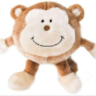 Brainey Squeaky Plush For Dog - Monkey