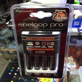 Eneloop Pro Battery 2550mah With Fast Charger