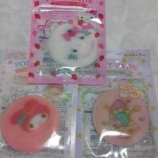 Sanrio 限定hello Kitty 美樂蒂 kikilala 局部面膜 共3款/每款$80