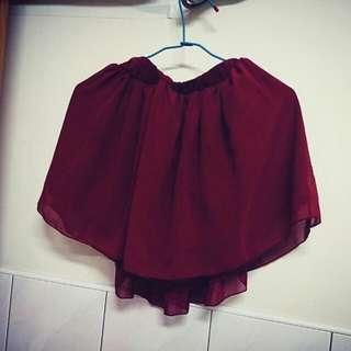 [東京著衣] 紅雪紡紗裙