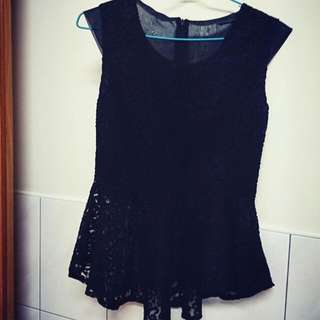 黑色蕾絲上衣