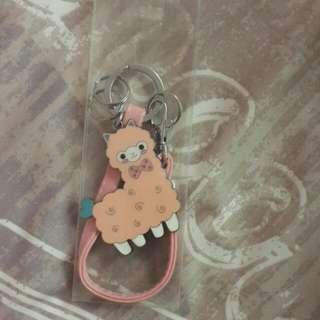 Pink Llama Keychain
