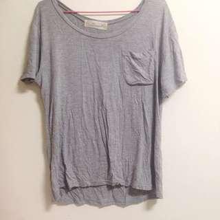 灰色寬鬆上衣 T Shirt