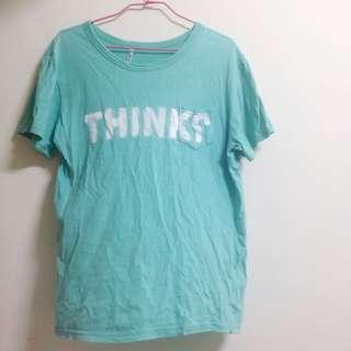 蒂芬妮綠上衣 寬鬆 T Shirt