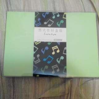 西式信封盒組,蘋果綠