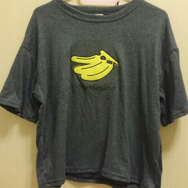 香蕉短版衣 韓版