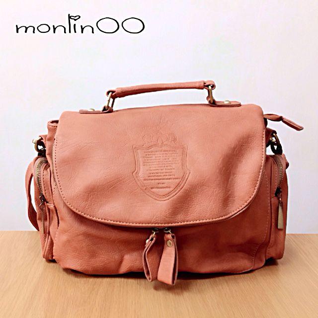 橘粉色手提包-二手