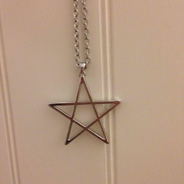 銀色 星星項鍊