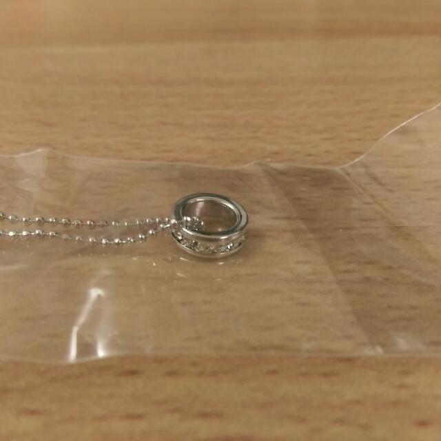 ✨免運✨圓形鑲鑽 項鍊 全新