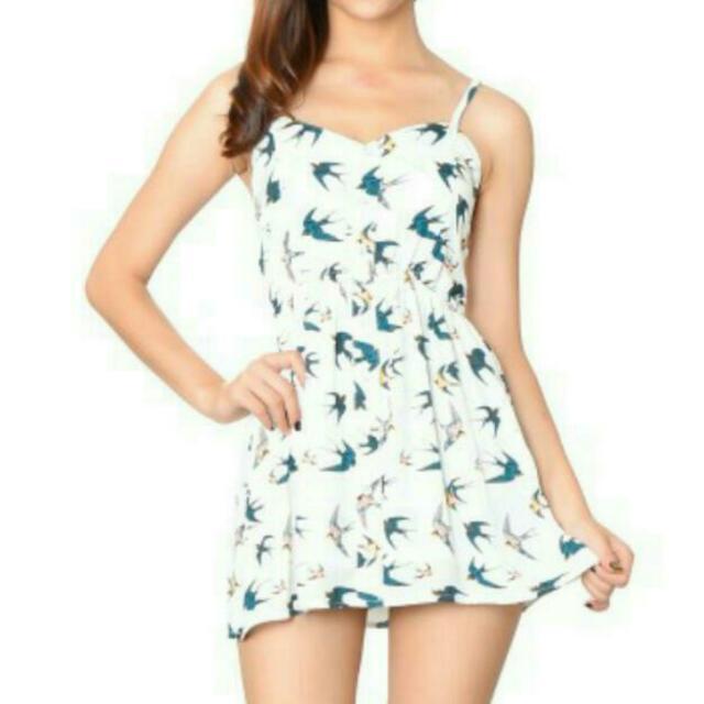 BN White Dove Romper Dress