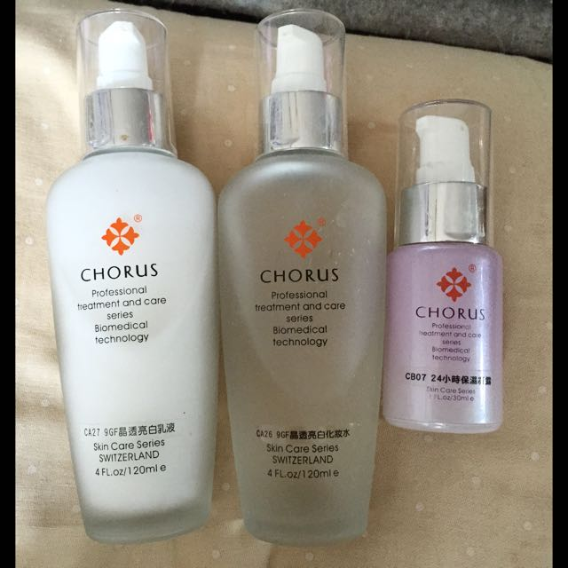 CHORUS 晶透亮白化妝水、乳液、精華組