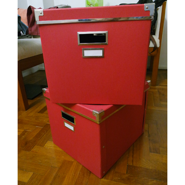 Ikea storage box with lid - red color