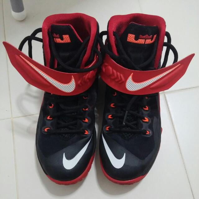 sports shoes f8618 66c82 nike lebron soldier 8 black red 9.5us