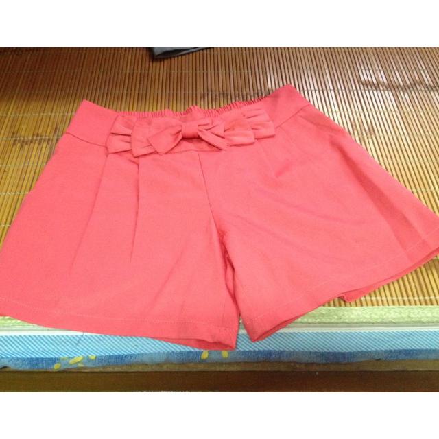 全新雪紡桃紅小短褲~適合S