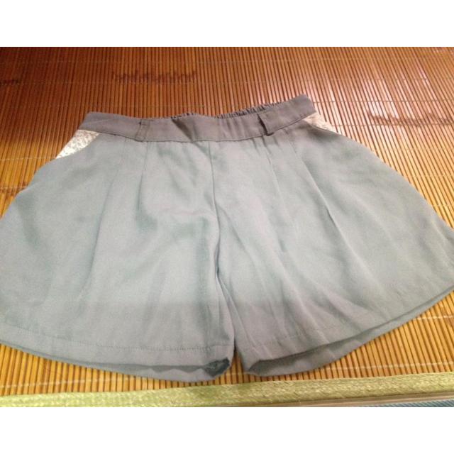 全新雪紡綠蕾絲短褲~適S